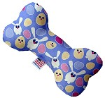 Chicks and Bunnies 6 inch Canvas Bone Dog Toy