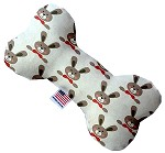 Dapper Rabbits 8 inch Stuffing Free Bone Dog Toy
