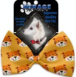 Tally the Tiger Pet Bow Tie Collar Accessory with Velcro