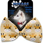 Georgie the Giraffe Pet Bow Tie Collar Accessory with Velcro