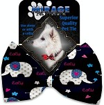 Baby Elephants Pet Bow Tie Collar Accessory with Velcro