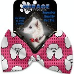 Pretty Poodles Pet Bow Tie Collar Accessory with Velcro