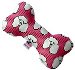Pretty Poodles 10 inch Stuffing Free Bone Dog Toy