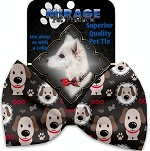 Dapper Dogs Pet Bow Tie Collar Accessory with Velcro