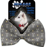 Gray Bunnies Pet Bow Tie Collar Accessory with Velcro
