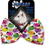 Bright Ladybugs Pet Bow Tie Collar Accessory with Velcro