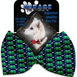 Elephants and Butterflies Pet Bow Tie Collar Accessory with Velcro