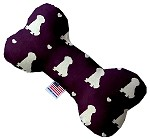 Purple Puppy Love 6 inch Bone Dog Toy