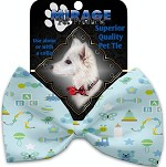 Little Boy Blue Pet Bow Tie Collar Accessory with Velcro