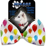 Balloons Pet Bow Tie Collar Accessory with Velcro