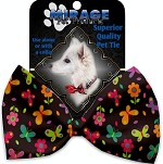 Butterflies in Brown Pet Bow Tie Collar Accessory with Velcro