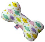 Easter Chickadees 6 inch Canvas Bone Dog Toy