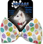 Easter Eggs Pet Bow Tie Collar Accessory with Velcro