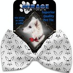 Bunny Face Pet Bow Tie Collar Accessory with Velcro