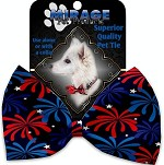Fireworks Pet Bow Tie Collar Accessory with Velcro