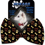 Happy Dog Pet Bow Tie Collar Accessory with Velcro