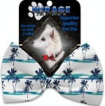 Palm Tree Paradise Pet Bow Tie