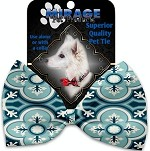 Blue Lagoon Pet Bow Tie Collar Accessory with Velcro