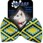 Yellow Southwest Pet Bow Tie Collar Accessory with Velcro
