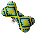 Yellow Southwest 10 inch Stuffing Free Bone Dog Toy