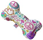 Hippy Love 6 inch Bone Dog Toy