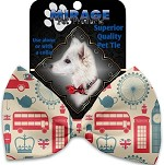 London Love Pet Bow Tie Collar Accessory with Velcro