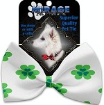 Lucky Charms Pet Bow Tie Collar Accessory with Velcro