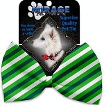 St. Patrick's Stripes Pet Bow Tie