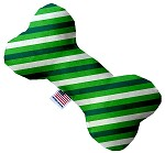 St. Patrick's Stripes 10 inch Stuffing Free Bone Dog Toy