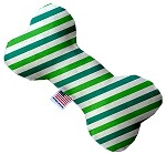 Lucky Stripes 10 inch Stuffing Free Bone Dog Toy