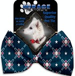 Bats and Balls Pet Bow Tie Collar Accessory with Velcro
