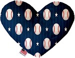 Baseball Pinstripes 8 inch Stuffing Free Heart Dog Toy