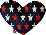 Graffiti Stars 6 inch Stuffing Free Heart Dog Toy