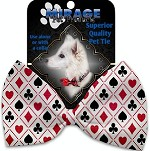 Deck of Cards Pet Bow Tie Collar Accessory with Velcro