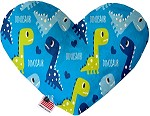 Blue Dinosaurs 6 inch Stuffing Free Heart Dog Toy
