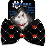 Fox Plaid Pet Bow Tie Collar Accessory with Velcro