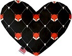 Fox Plaid 8 inch Stuffing Free Heart Dog Toy