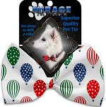 Hot Air Balloons Pet Bow Tie Collar Accessory with Velcro