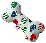 Hot Air Balloons 6 Inch Canvas Bone Dog Toy