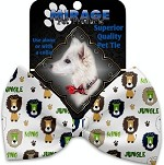 King of the Jungle Pet Bow Tie Collar Accessory with Velcro