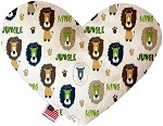 King of the Jungle 8 inch Stuffing Free Heart Dog Toy