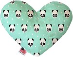 Happy Pandas 8 inch Stuffing Free Heart Dog Toy