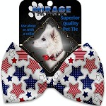 Patriotic Stars Pet Bow Tie