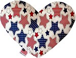 Patriotic Stars 8 inch Stuffing Free Heart Dog Toy