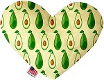 Avocado Paradise 6 inch Stuffing Free Heart Dog Toy