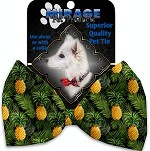 Pineapples in Paradise Pet Bow Tie Collar Accessory with Velcro