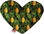 Pineapples in Paradise 6 inch Stuffing Free Heart Dog Toy