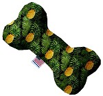 Pineapples in Paradise 10 inch Stuffing Free Bone Dog Toy