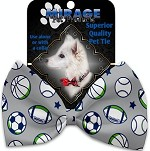Sports and Stars Pet Bow Tie Collar Accessory with Velcro