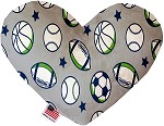 Sports and Stars 6 inch Stuffing Free Heart Dog Toy